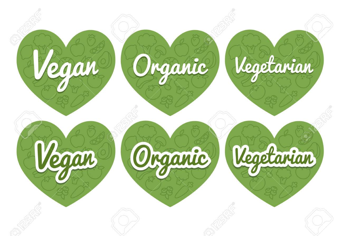 100 Percent Organic Food And Natural Product With Leaf Signs Stock ...