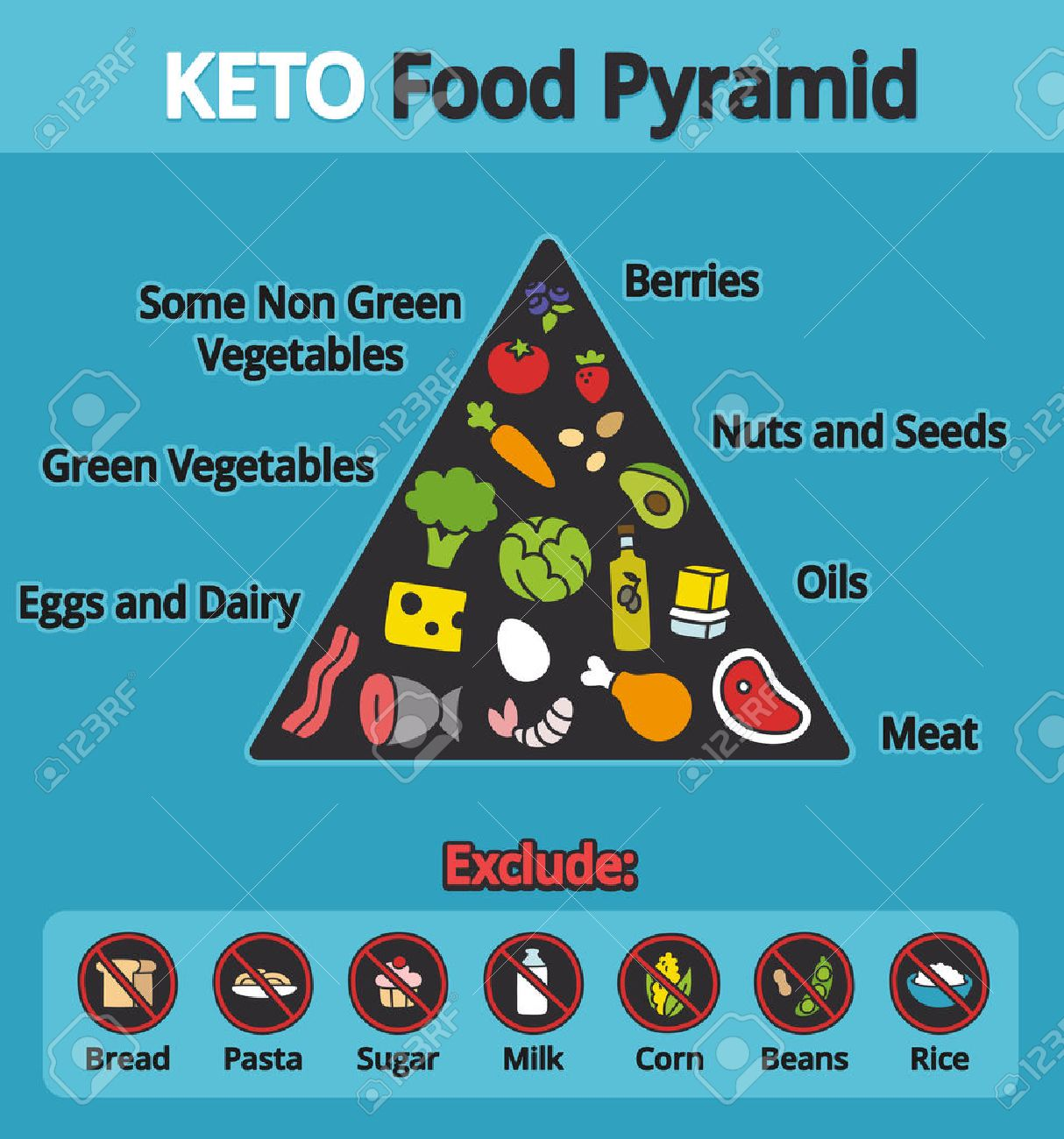 Nutrition Infographics: Food Pyramid Diagram For The Ketogenic ...