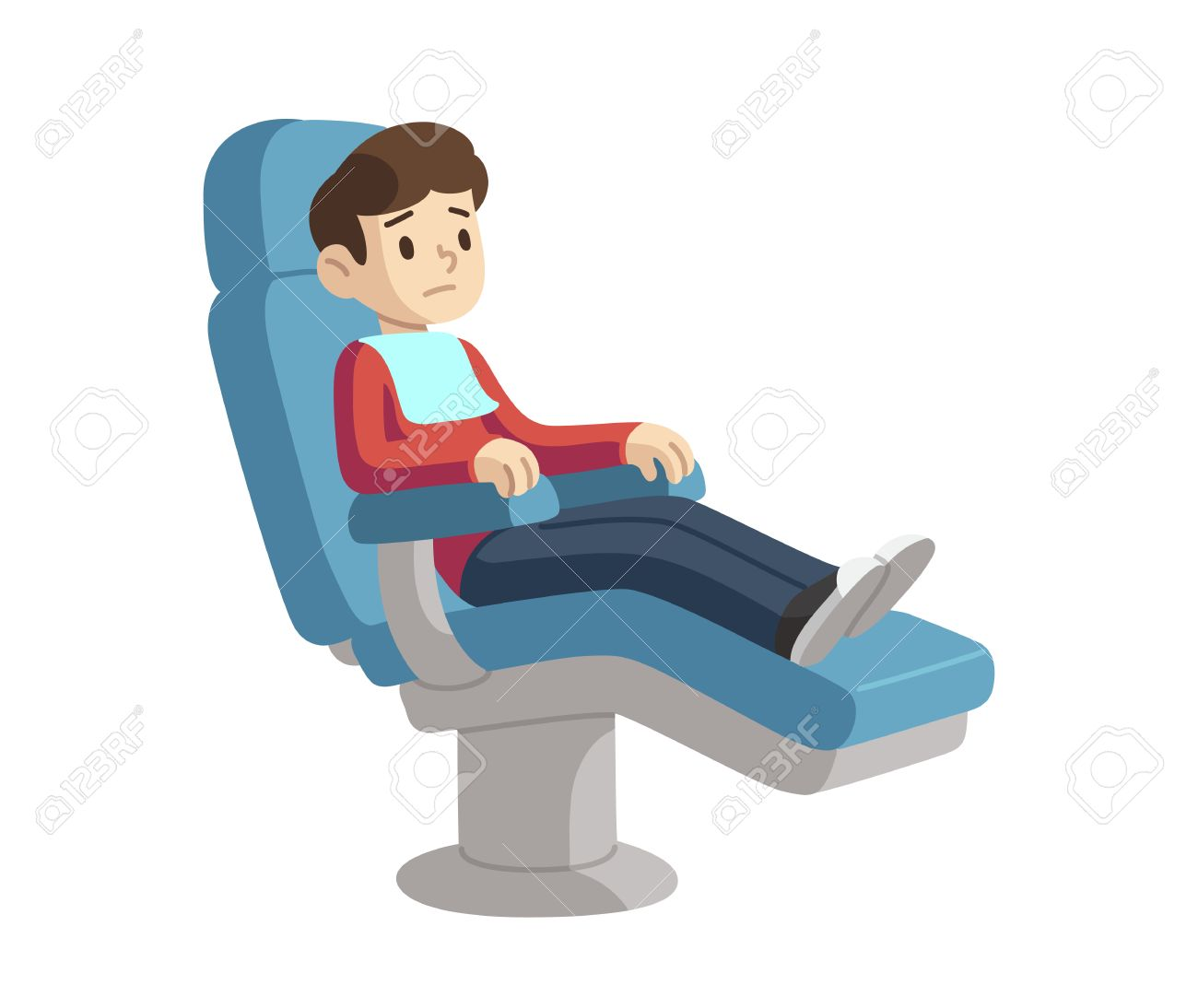Peachy Cute Cartoon Boy On Dentist Visit Sitting In Dental Chair With Gmtry Best Dining Table And Chair Ideas Images Gmtryco