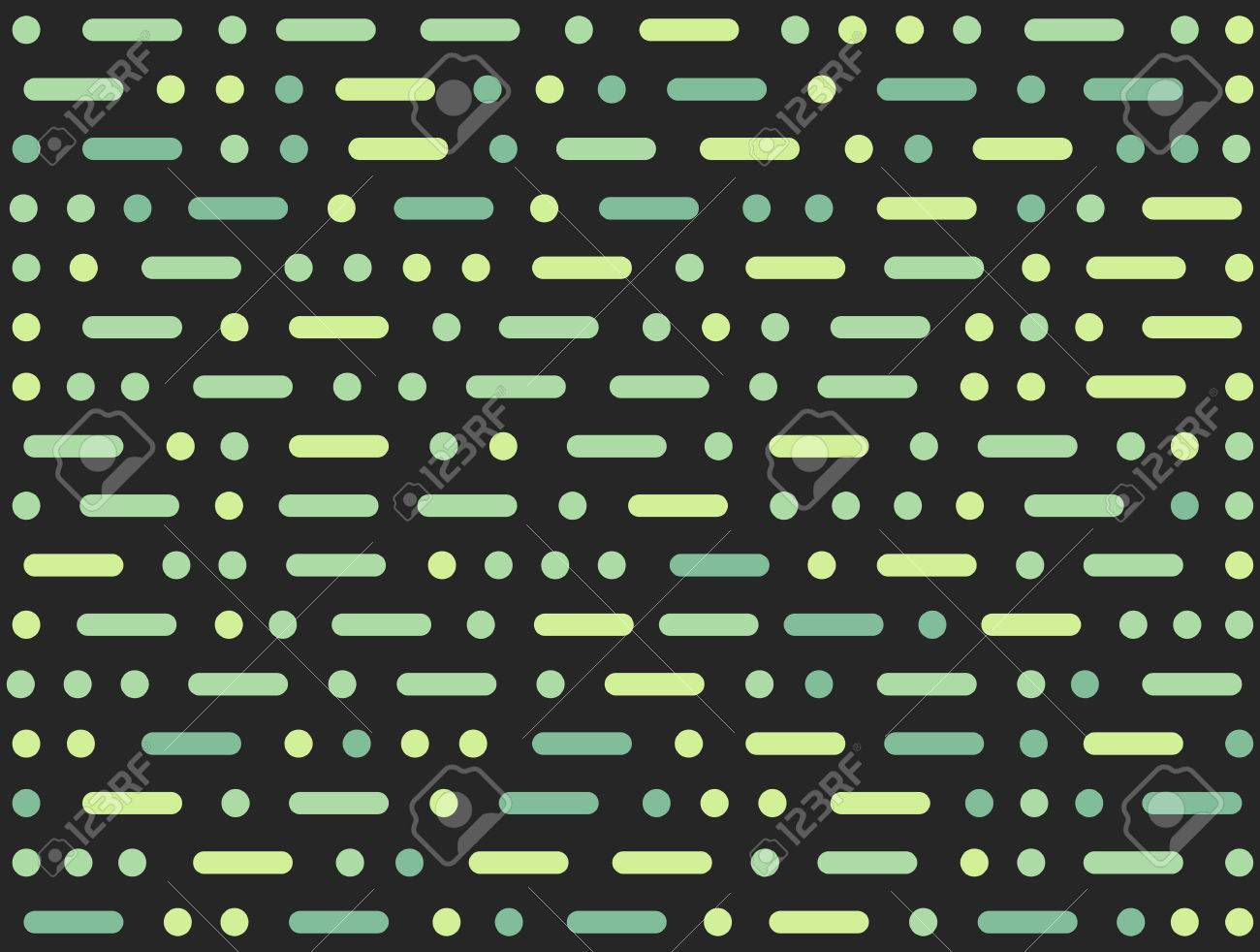 Morse Code Inspired Abstract Seamless Pattern Geometric Dots