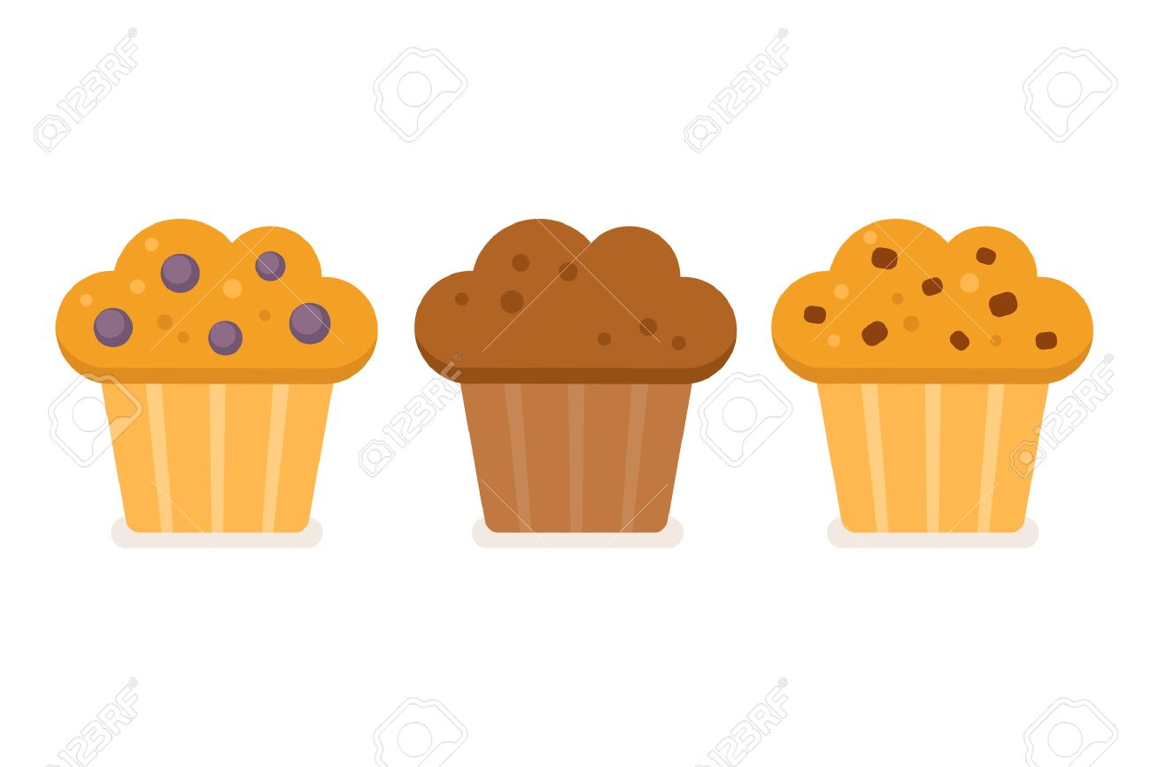 Muffin Icon Set Blueberry Chocolate And Chocolate Chip Vector Royalty Free Cliparts Vectors And Stock Illustration Image 51362051