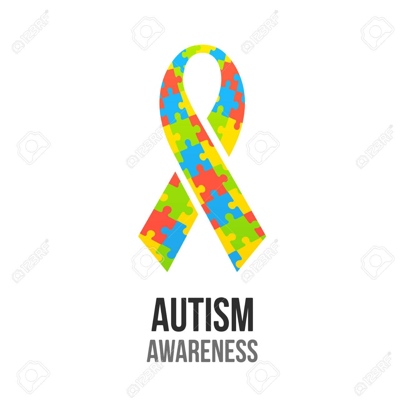 Autism awareness ribbon with jigsaw puzzle pattern colorful autism awareness ribbon with jigsaw puzzle pattern colorful vector illustration stock vector 54096271 biocorpaavc