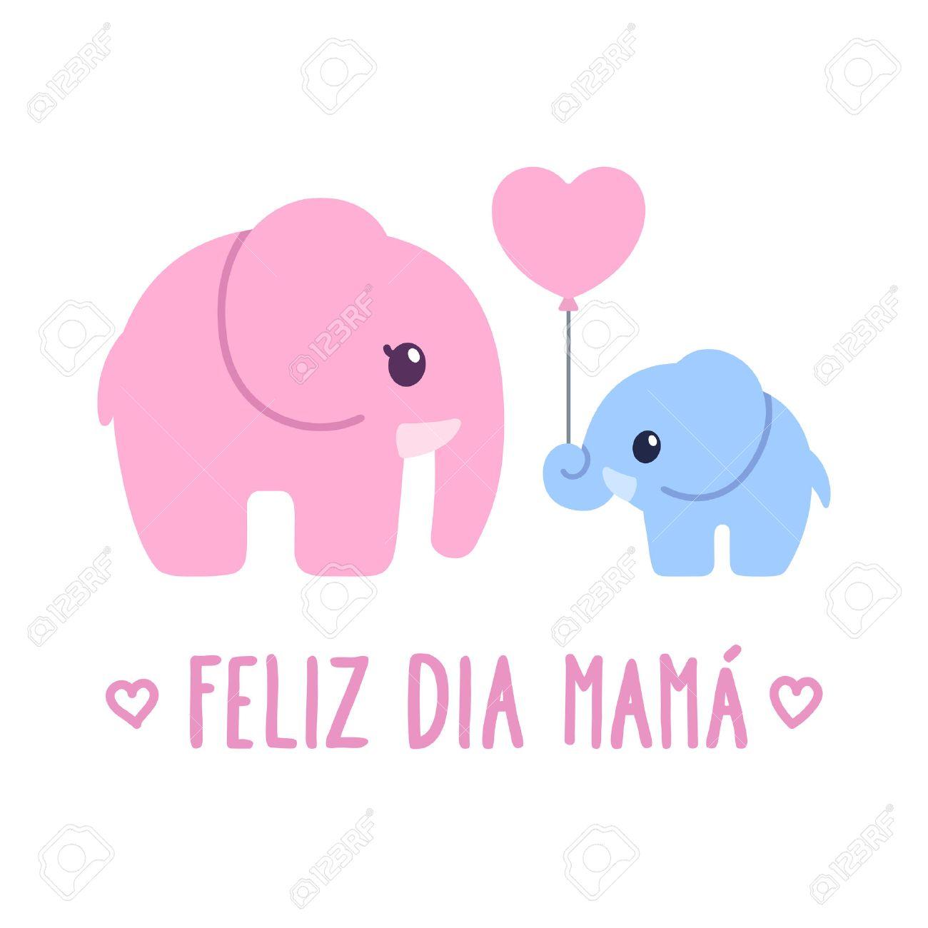 feliz dia mama spanish for happy mother s day cute cartoon