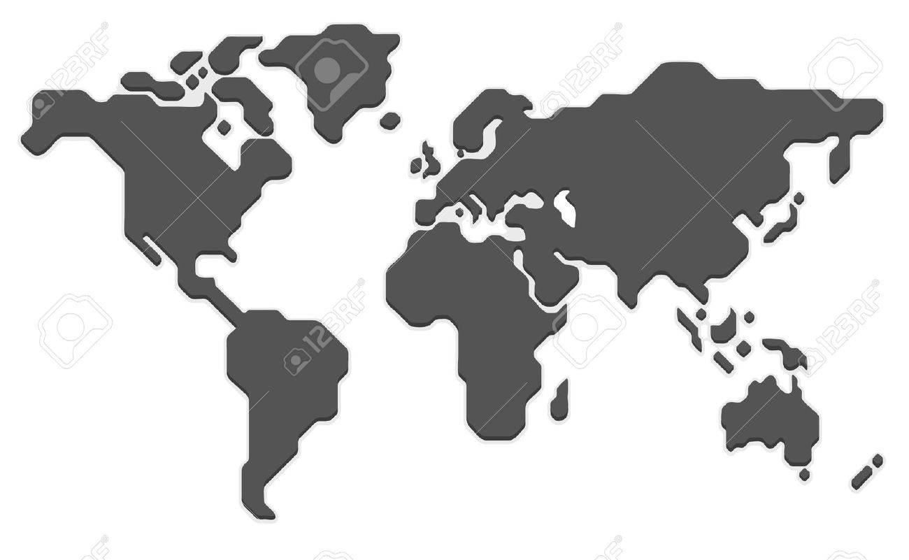 Stylized world map modern flat vector illustration royalty free stylized world map modern flat vector illustration stock vector 56736279 sciox Image collections