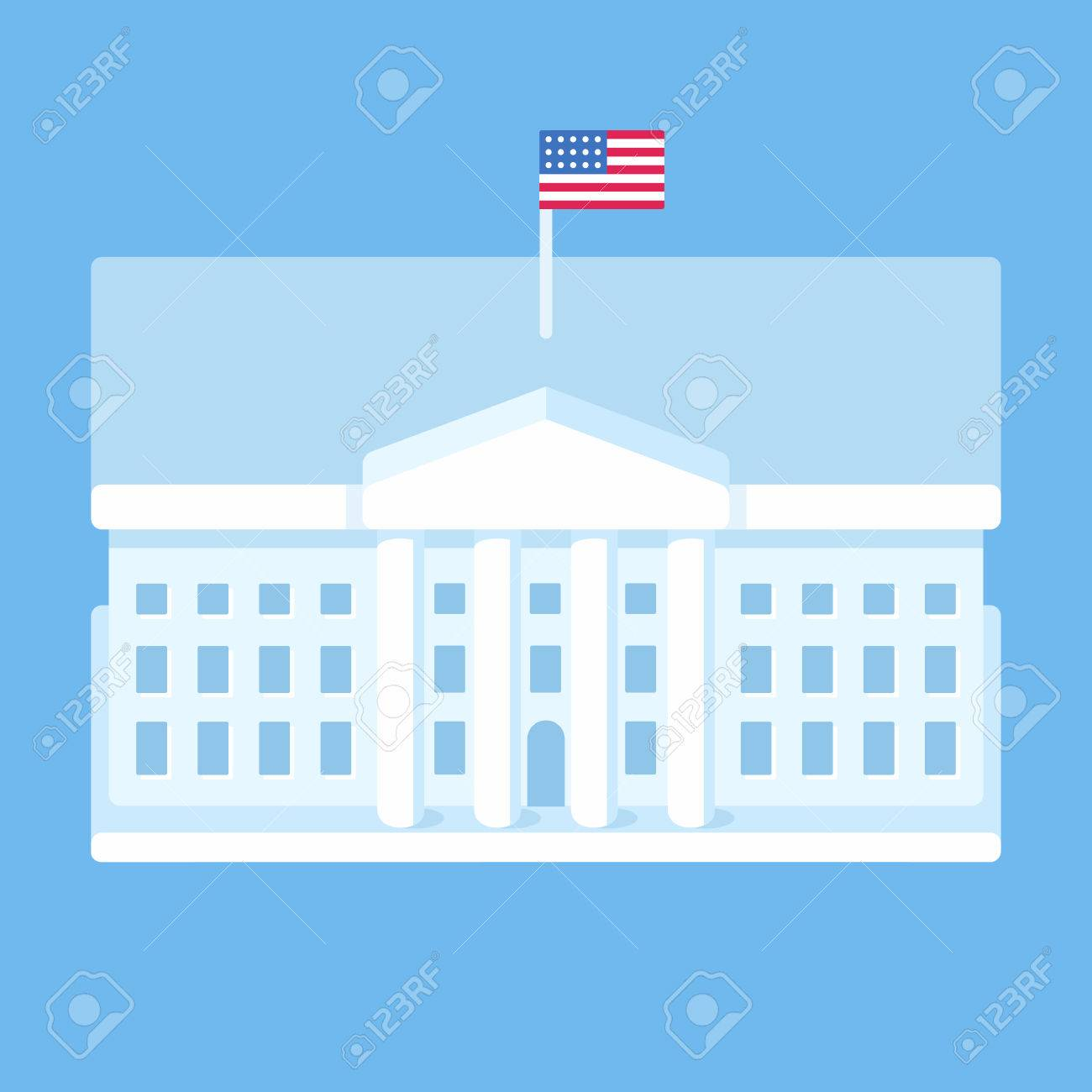 white house washington dc modern flat vector illustration stylized rh 123rf com