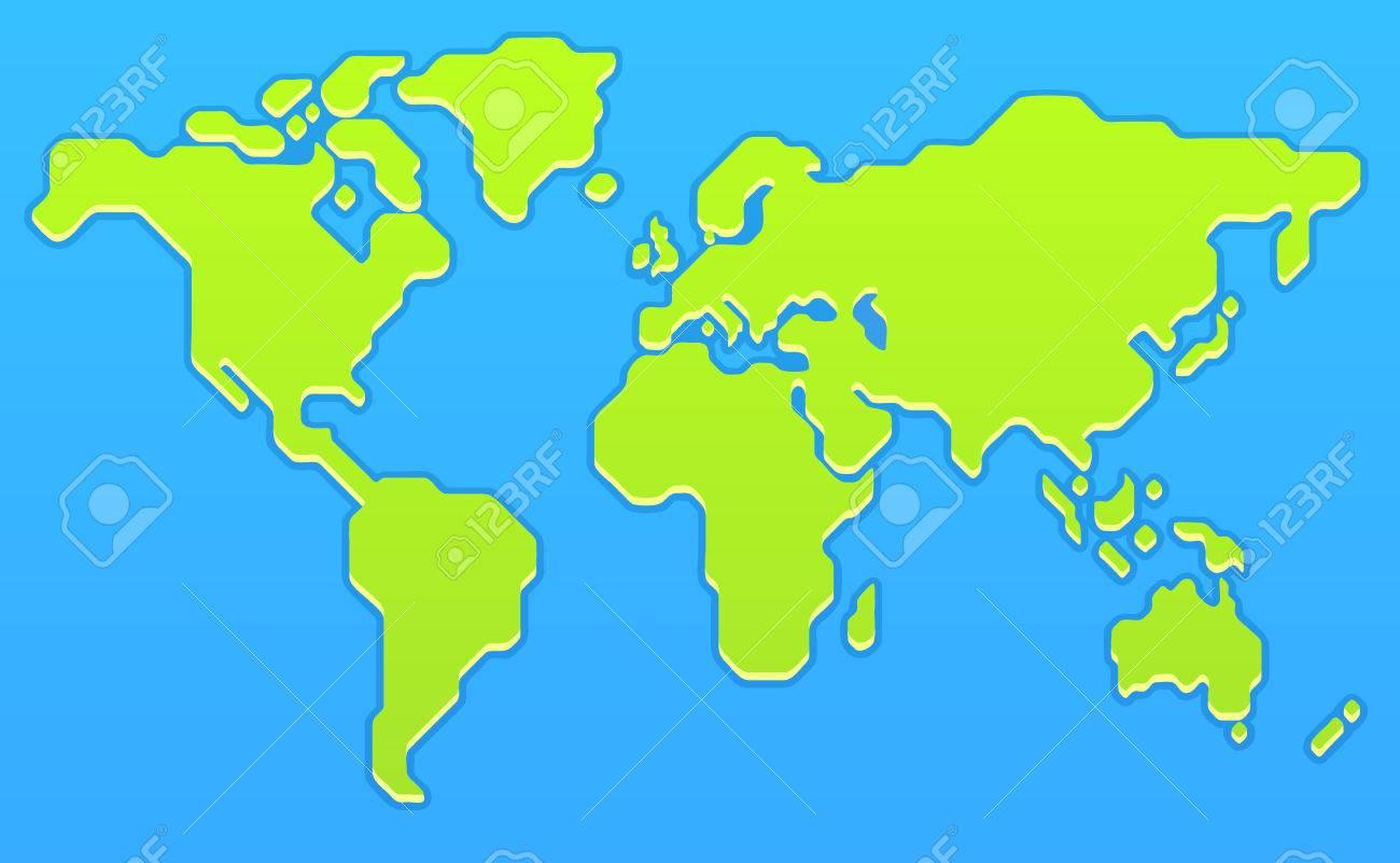 Stylized world map modern flat vector illustration royalty free stylized world map modern flat vector illustration stock vector 56736285 gumiabroncs Gallery