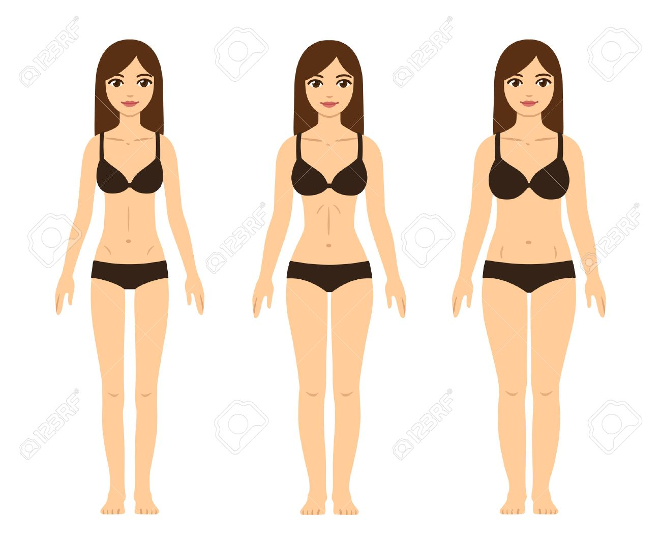 Female Body Types Skinny Underweight Fit Hourglass Figureand