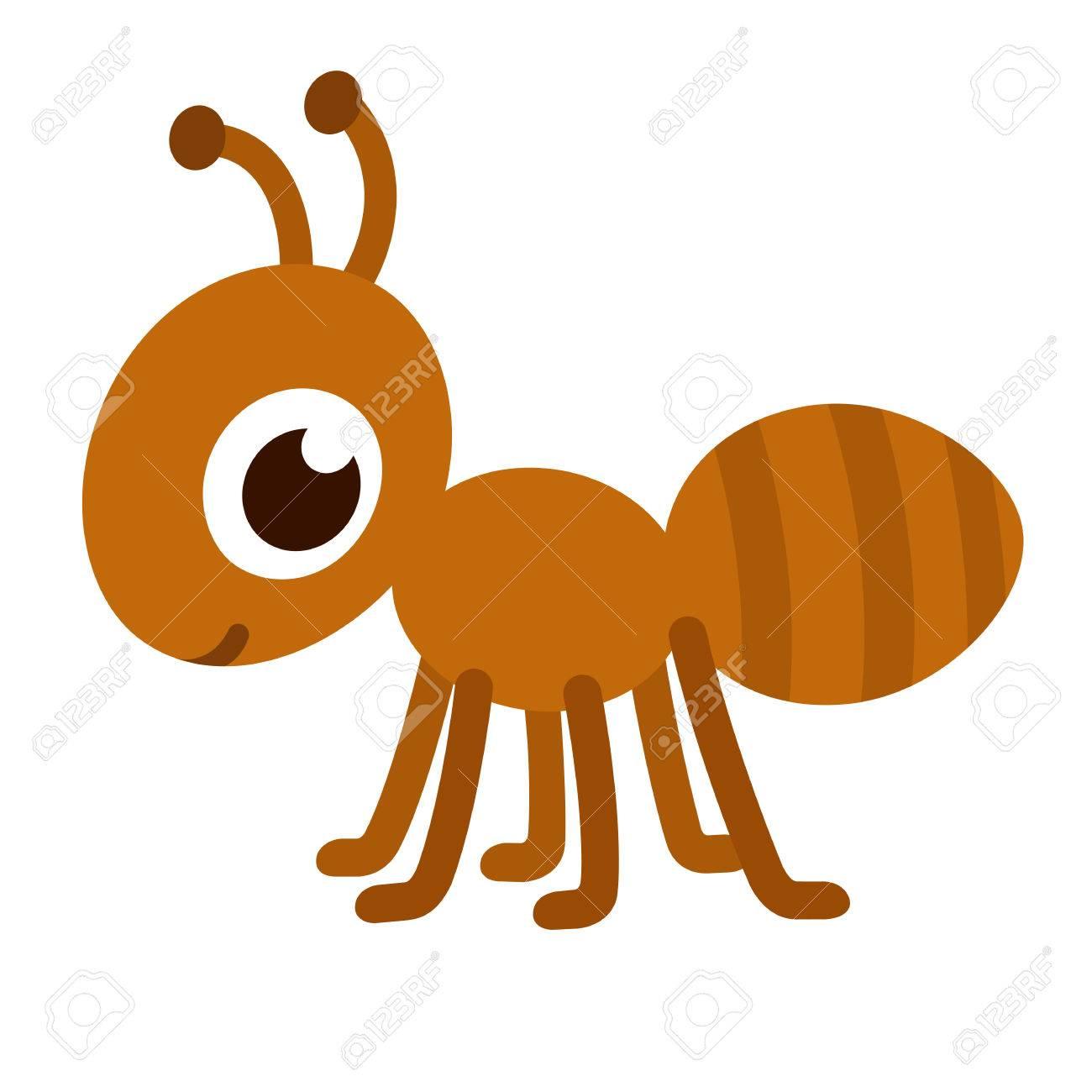 cute cartoon ant happy little ant vector illustration royalty free rh 123rf com cartoon vectoriel cartoon vector kit