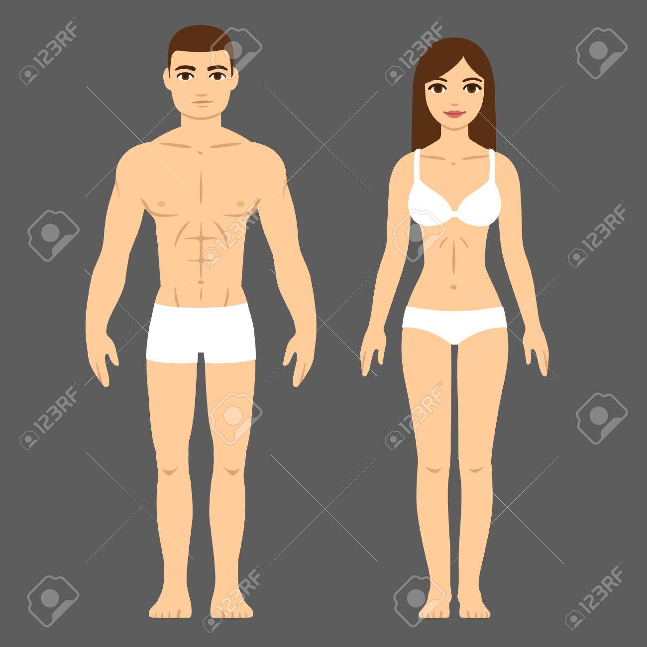 El Hombre Y La Mujer Con Cuerpo Atlético En Ropa Interior. La Salud ...