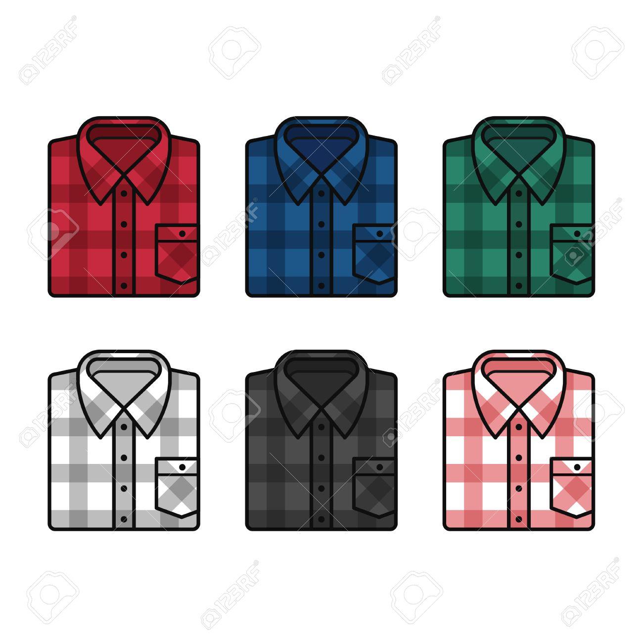 格子縞のパターン フランネル シャツ セット メンズ ファッション