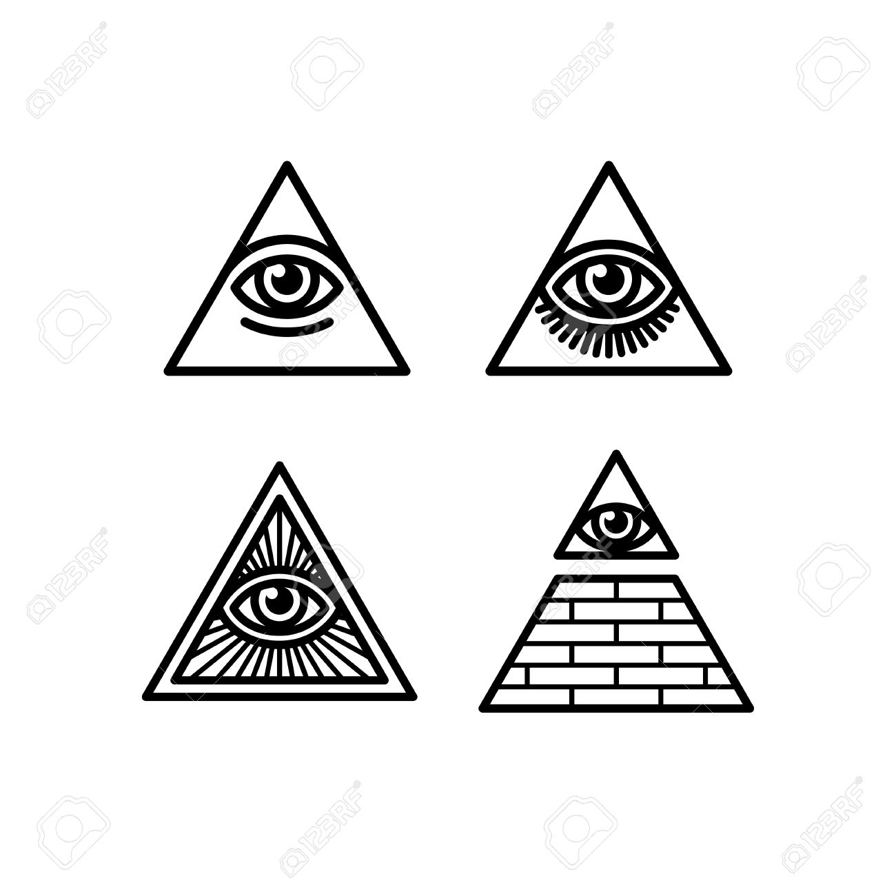 All seeing eye icons set illuminati symbol in different styles illuminati symbol in different styles stock vector 59697734 biocorpaavc