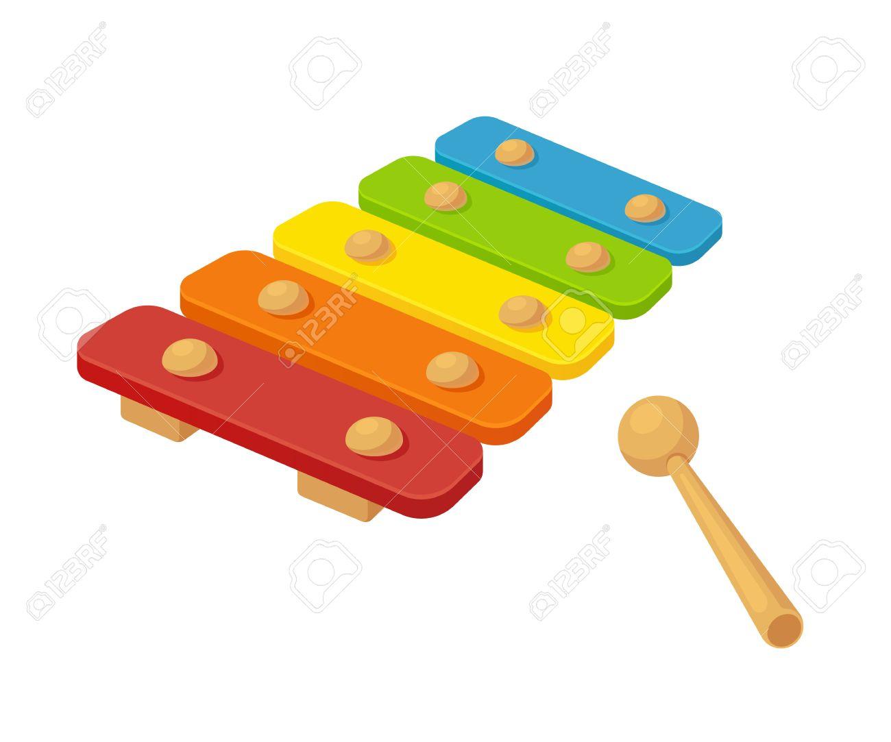 Illustration Vectorielle Xylophone De Jouet Instrument Pour Enfants