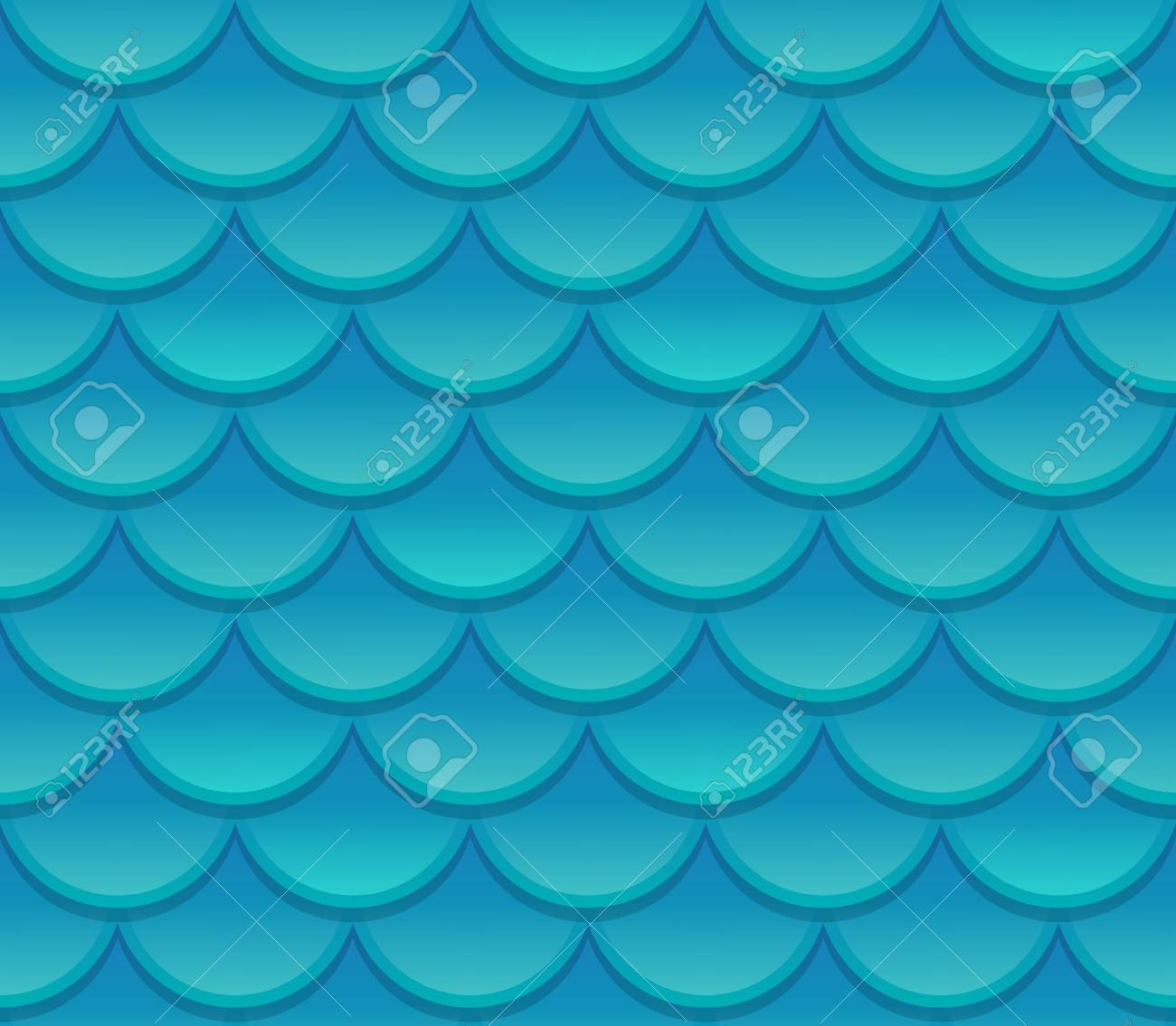 seamless blue fish scale texture realistic scale pattern vector