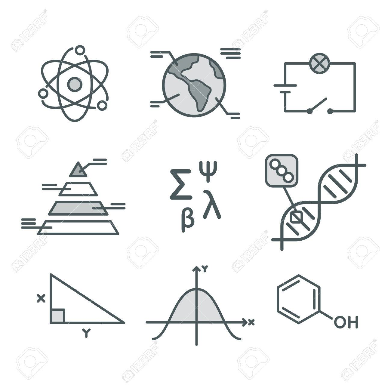Science symbols set mathematical functions chemistry and biology science symbols set mathematical functions chemistry and biology geography and physics abstract biocorpaavc Image collections