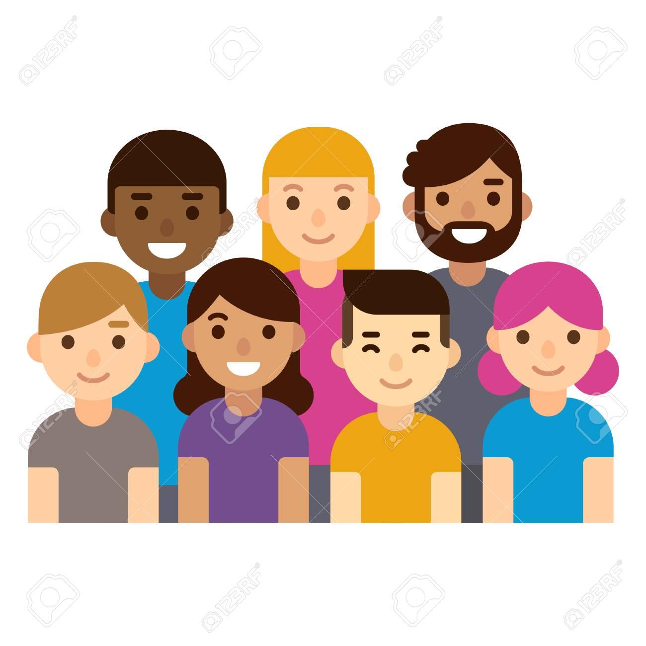 Groupe Diversifié De Personnes Détudiants Ou De Lieu De Travail