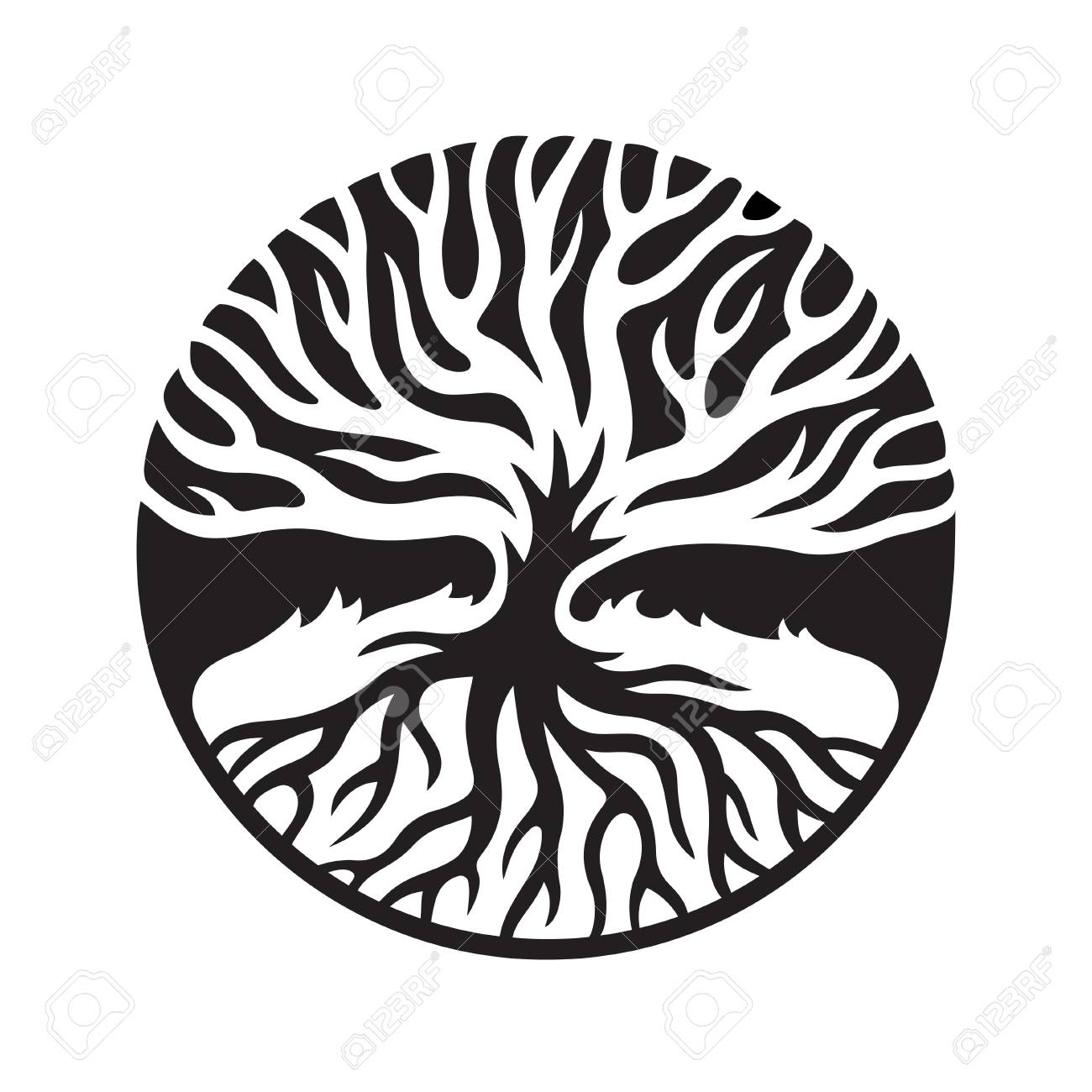 tree of life concept illustration decorative tree with roots rh 123rf com tree of life vector free download tree of life vector file