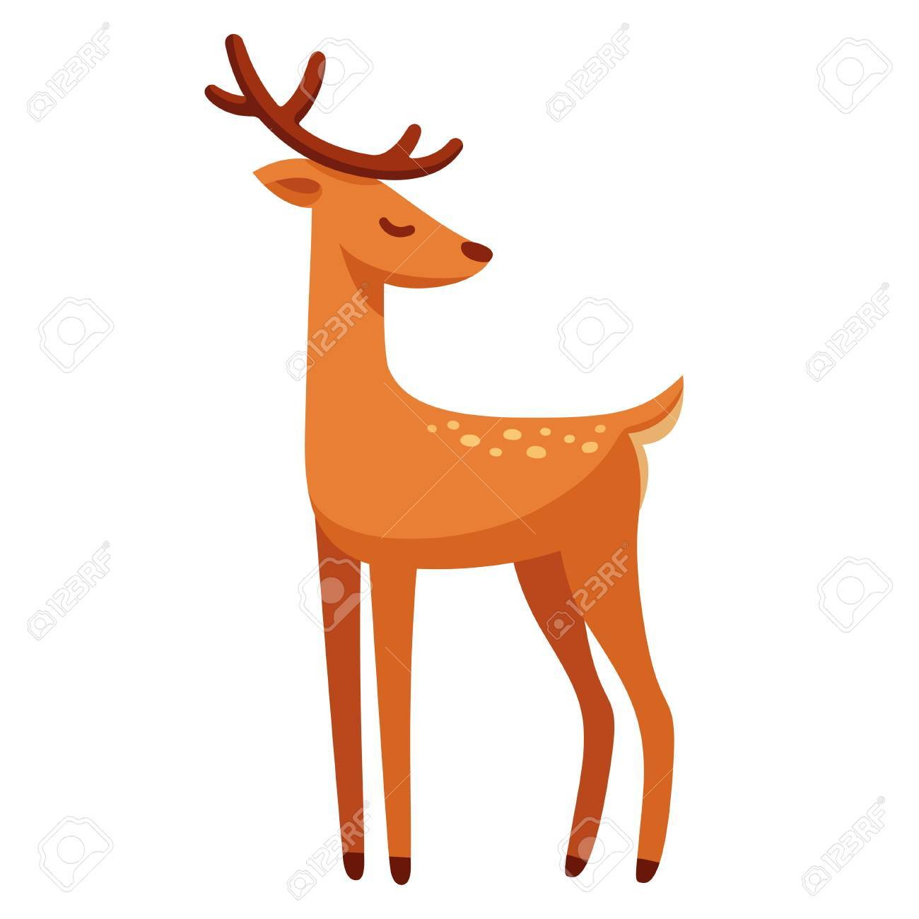 Cartoon Male Deer Drawing Royalty Free Cliparts Vectors And Stock