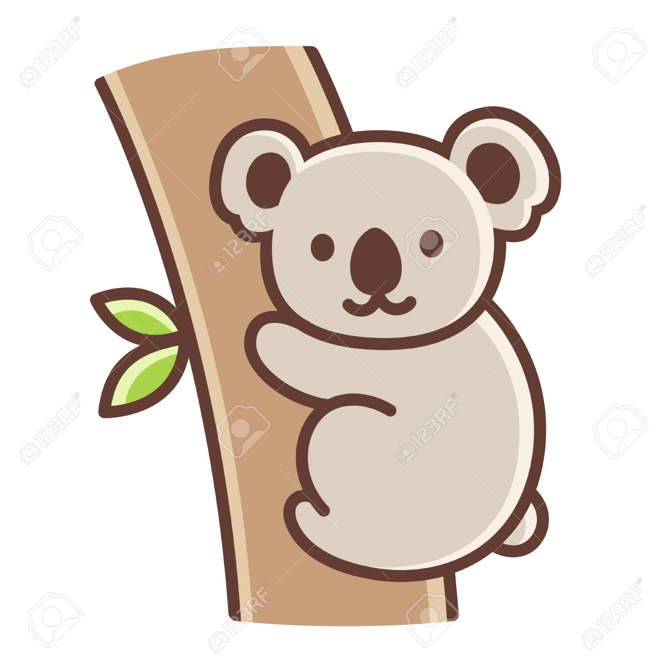cute cartoon koala on tree branch simple vector illustration rh 123rf com simple vector drawing program simple vector image editor