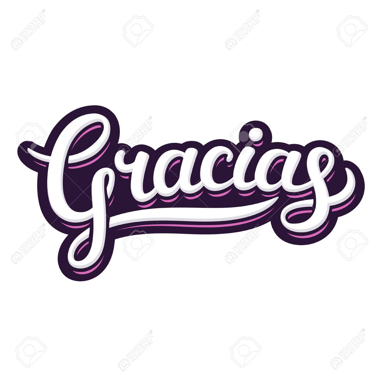 Hand Lettering Word Gracias Thank You In Spanish Beautiful