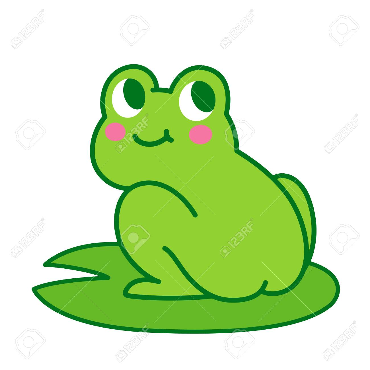 cute cartoon frog butt drawing funny illustration for children