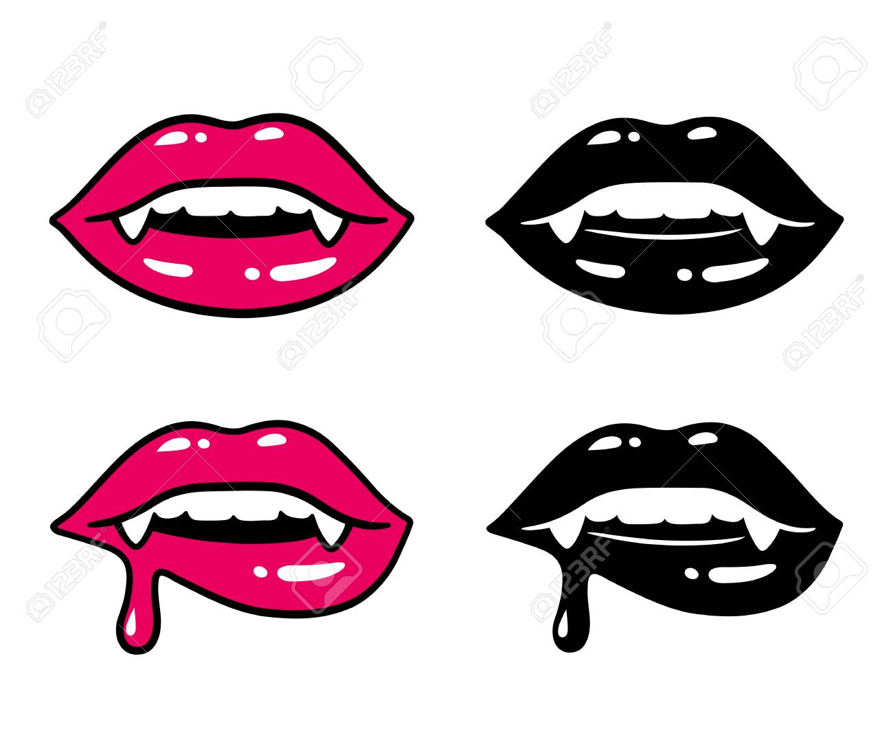 Biting lip woman lower The Kiss
