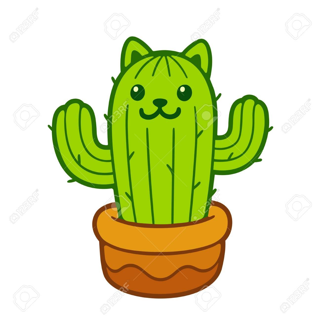 Cactus Drawing Cute Carinewbi