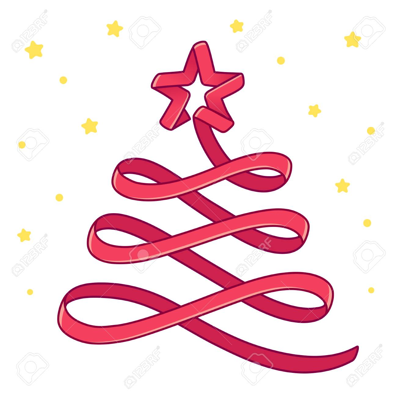 Merry Christmas Greeting Card Cartoon Red Ribbon Christmas Tree Royalty Free Cliparts Vectors And Stock Illustration Image 126947067 Even if it is not real, but artificial or even virtual. 123rf com