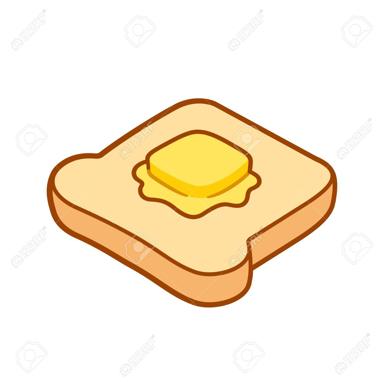 toast with butter cartoon drawing. traditional breakfast, buttered..  royalty free cliparts, vectors, and stock illustration. image 141194766.  123rf
