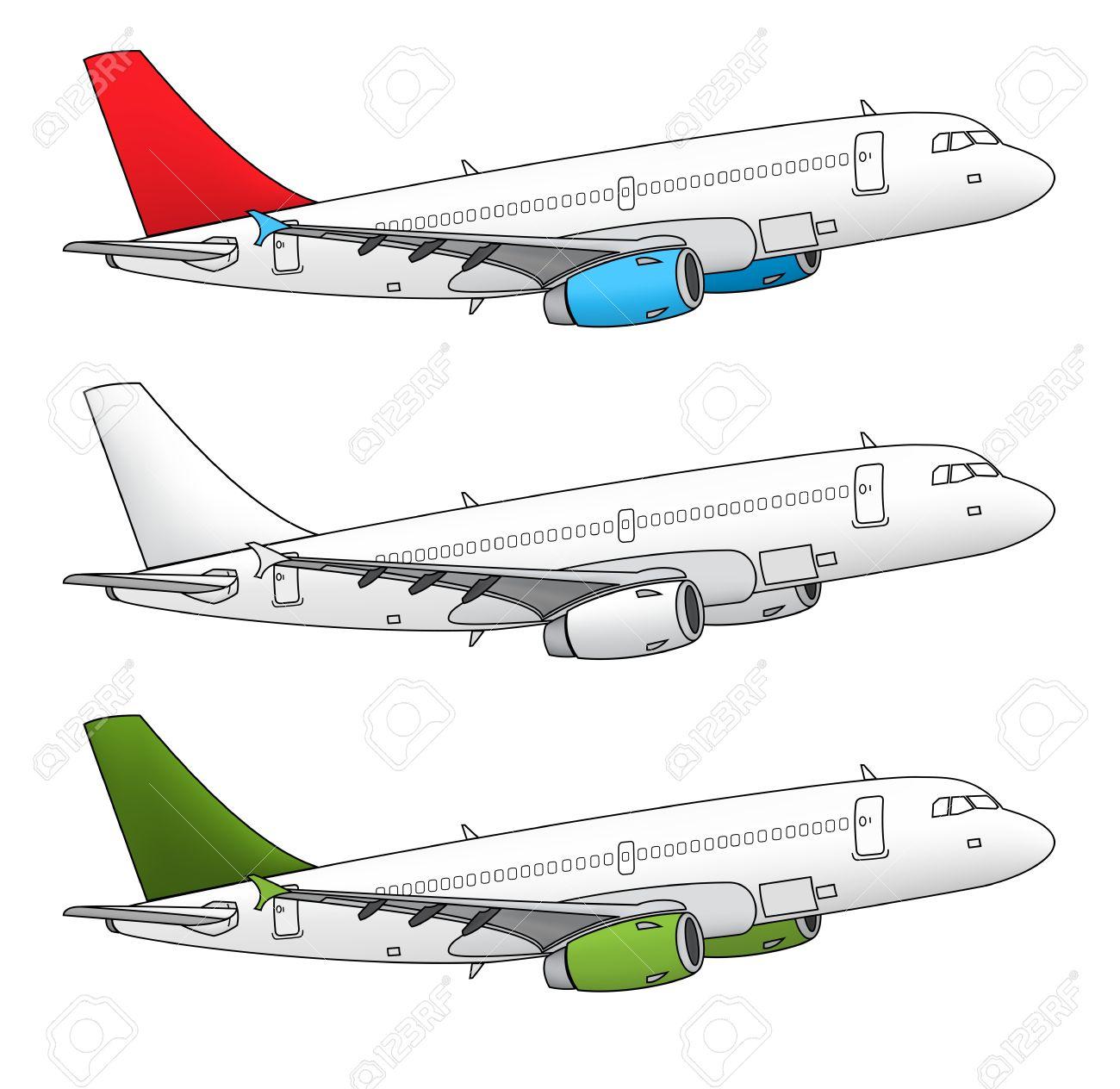 El Diseño De Aviones Vector Aislada En Diferentes Combinaciones De ...
