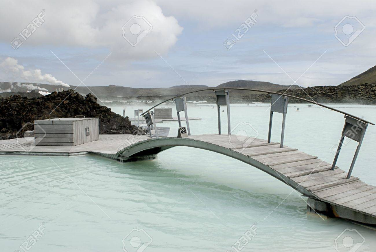The Blue Lagoon, a geothermal bath resort in Iceland. Stock Photo - 3780636