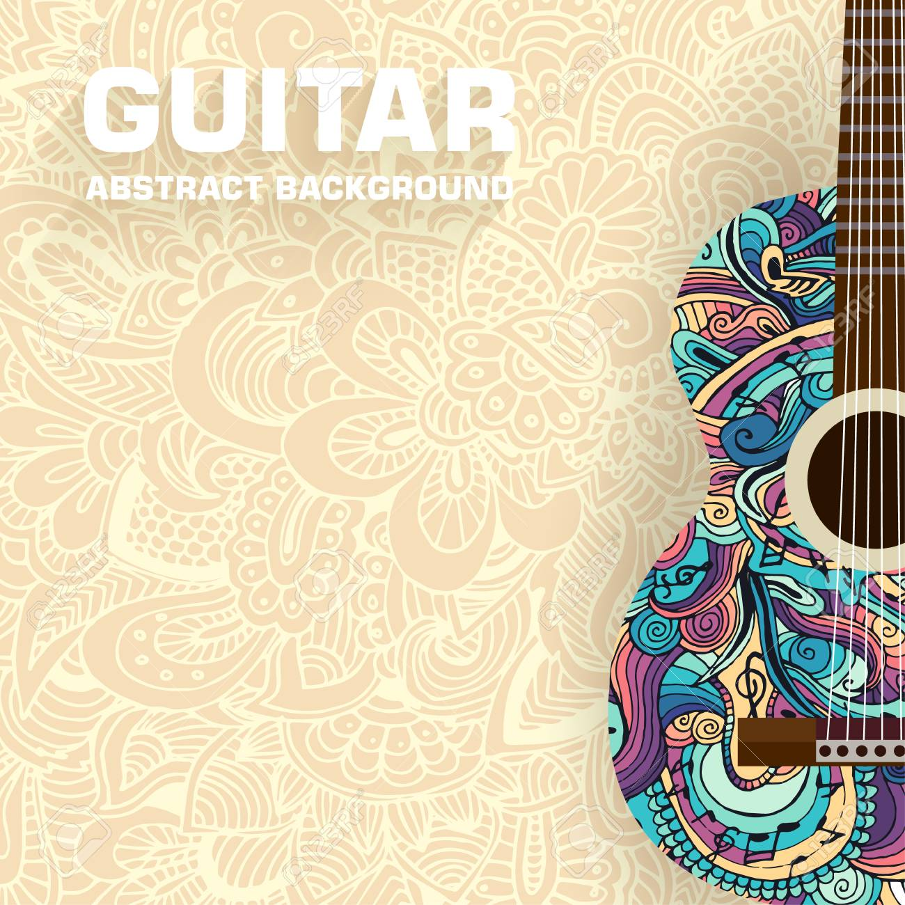 Abstract musical notes on a background. Vector illustration concept design - 34278837