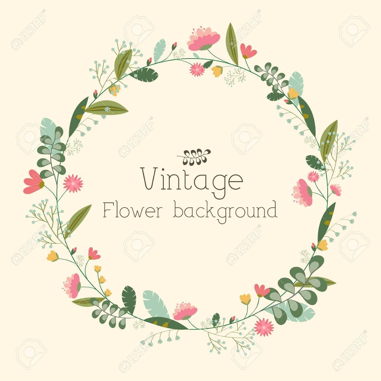 retro flower background concept. Vector illustration - 34300768