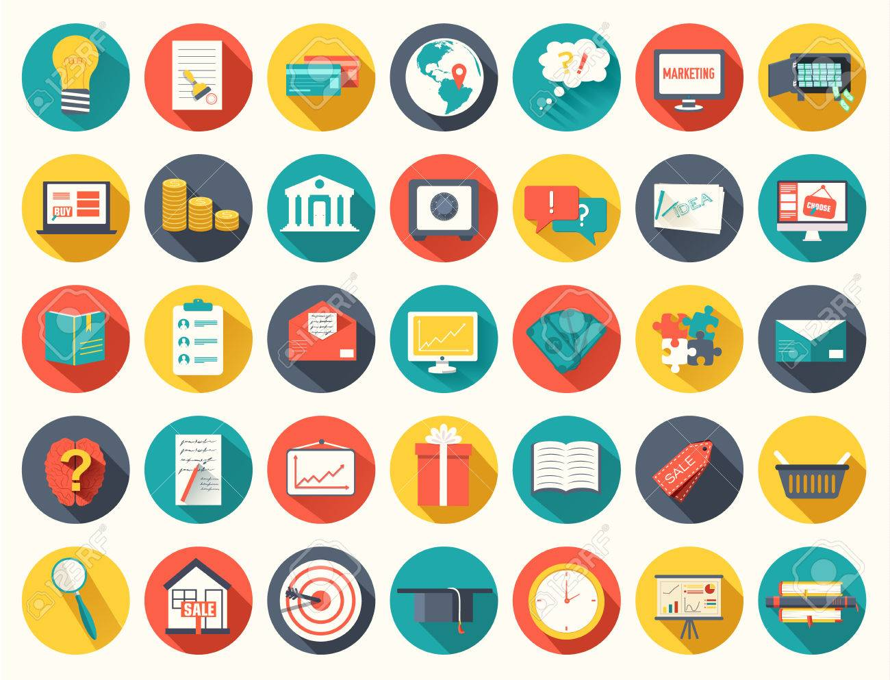 Big collection business, education, online training, marketing background concept - 39172734