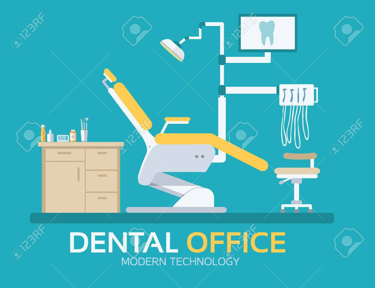 flat dentist office illustration design background. Vector illustration for colorful template for you design, web and mobile applications - 39172745