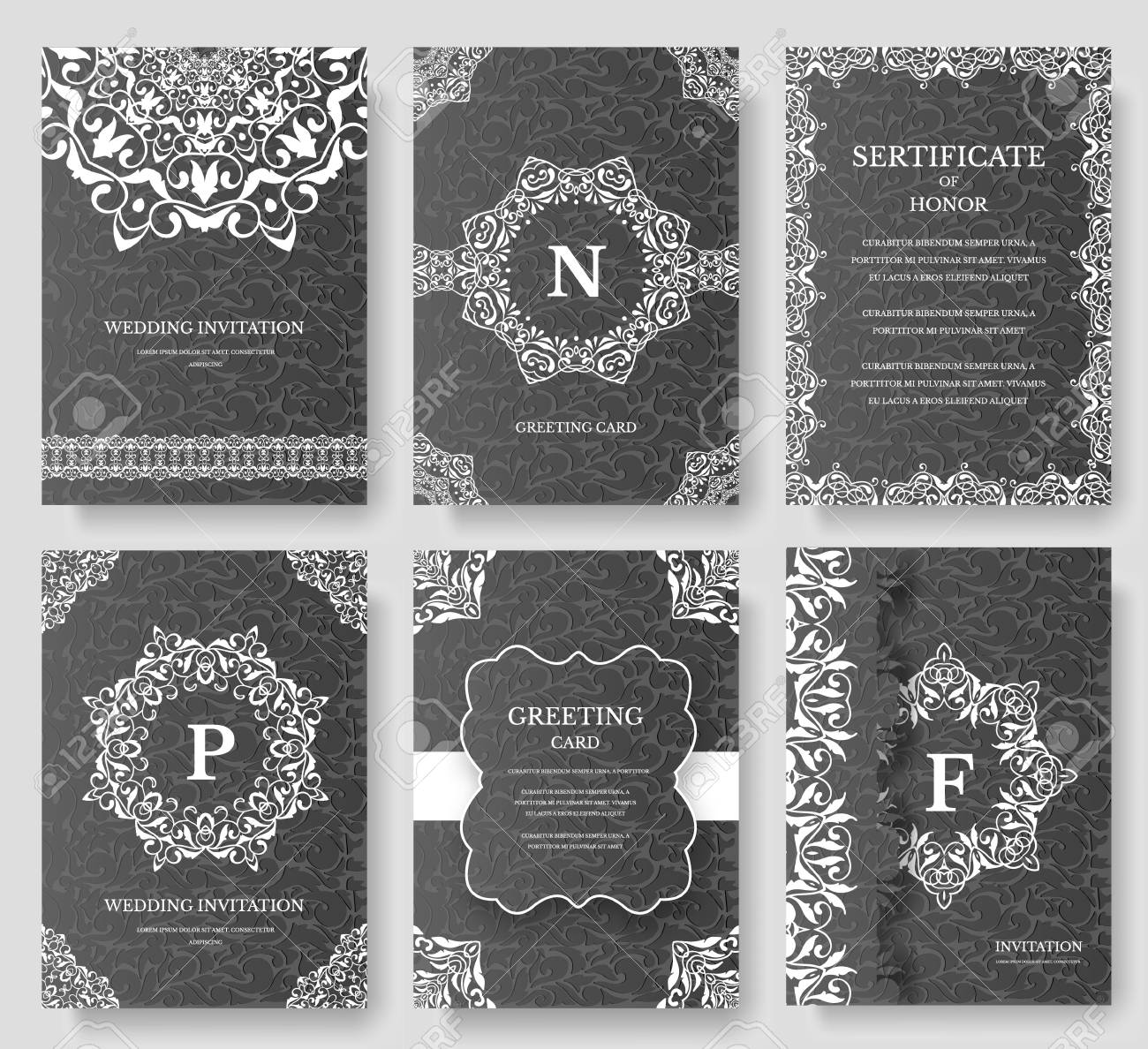 Retro Brochure Template | Set Of Luxury Artistic Pages With Logo Brochure Template Vintage