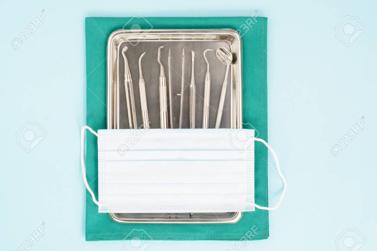 Dental Tools Surgical Kit In The Clinic Or Office Use For Dentis ...