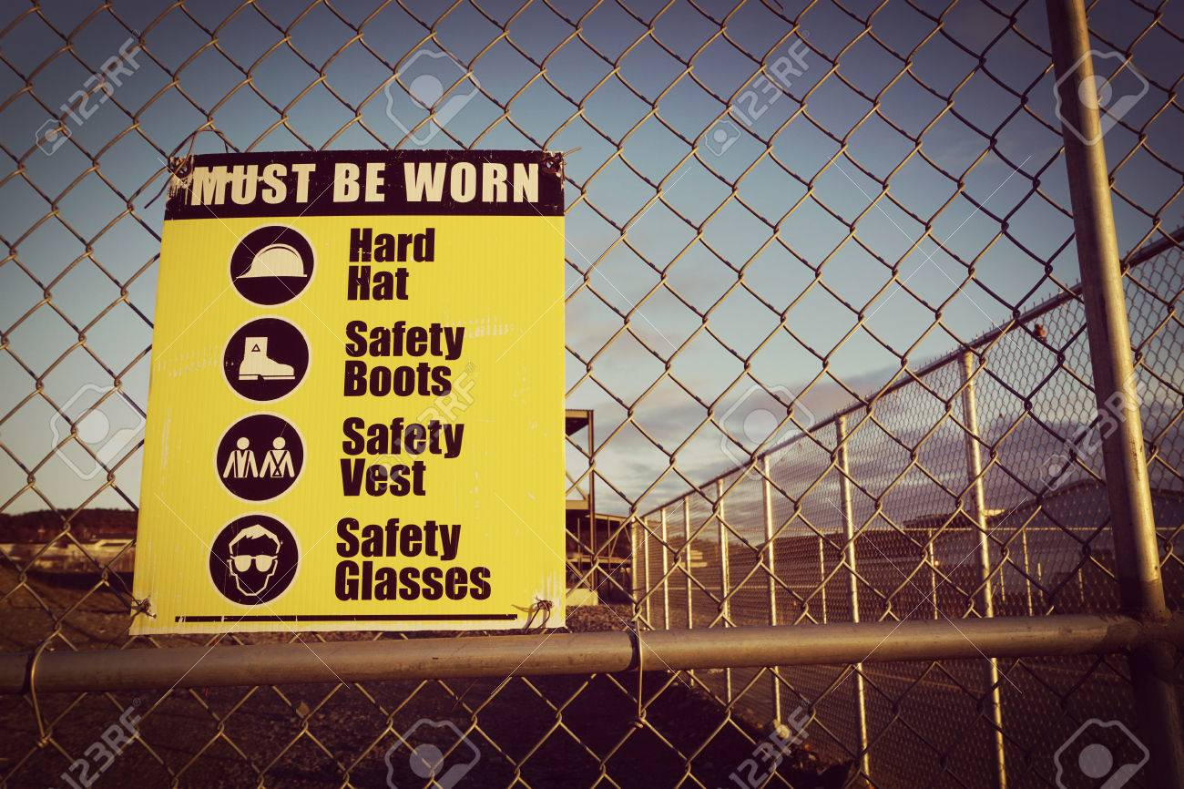 Site Safety Signs Construction Site For Health And Safety Vintage