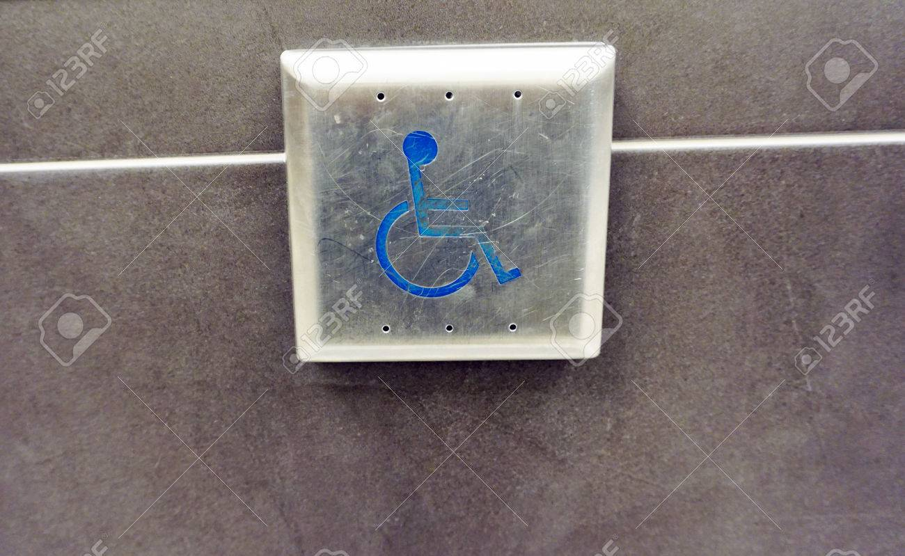 Captivating Handicap Push Button Door Opener,in Front Of Mall Stock Photo   48435145