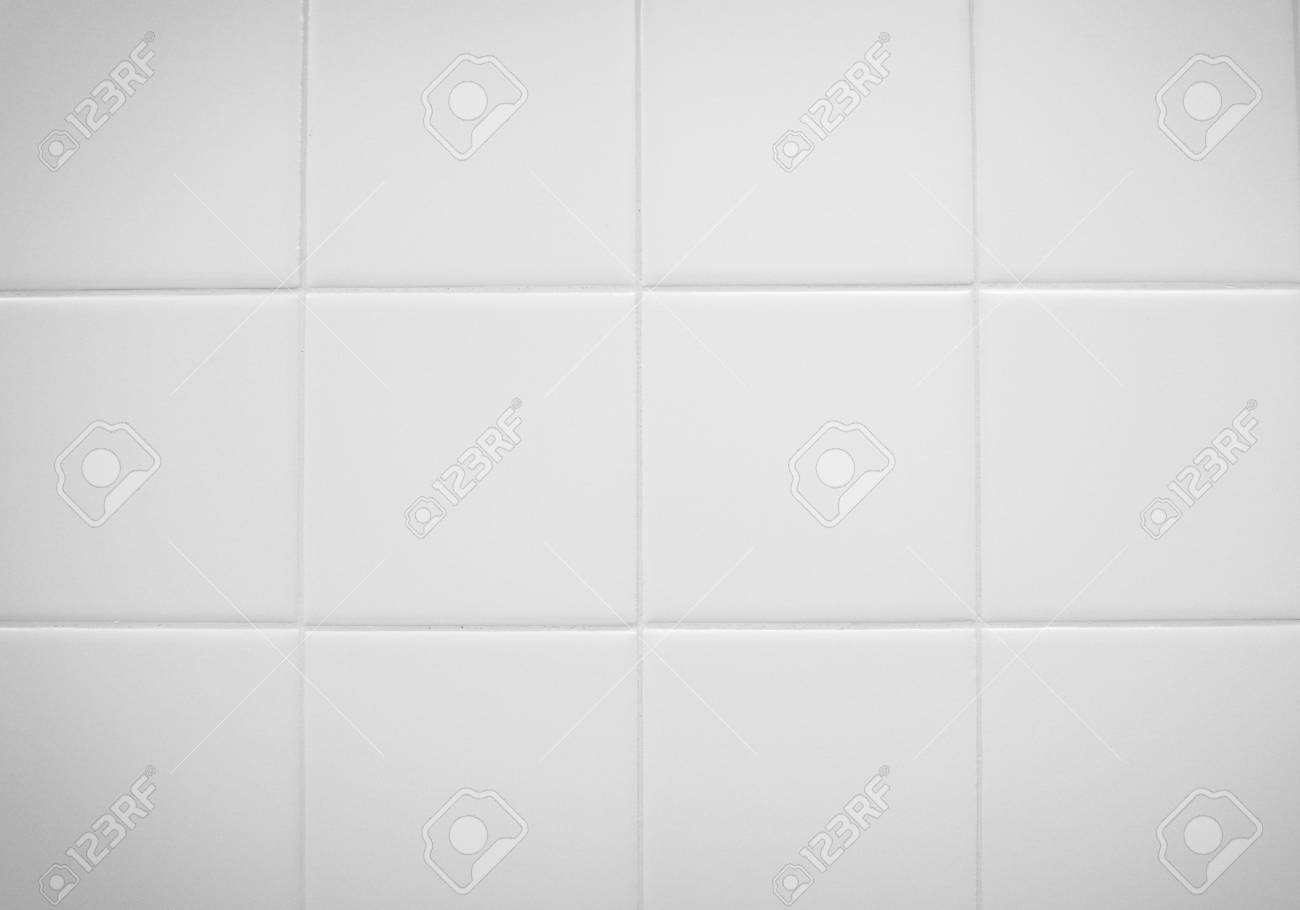 Weiße Fliesen In Einem Badezimmer Für Textur, Hintergrund ...