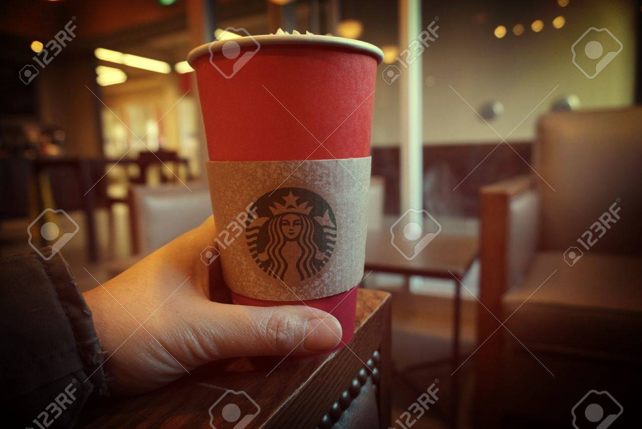 b1a78d51e5d Jan 7, 2016, St. John's, Newfoundland Canada, hand holding Starbucks..