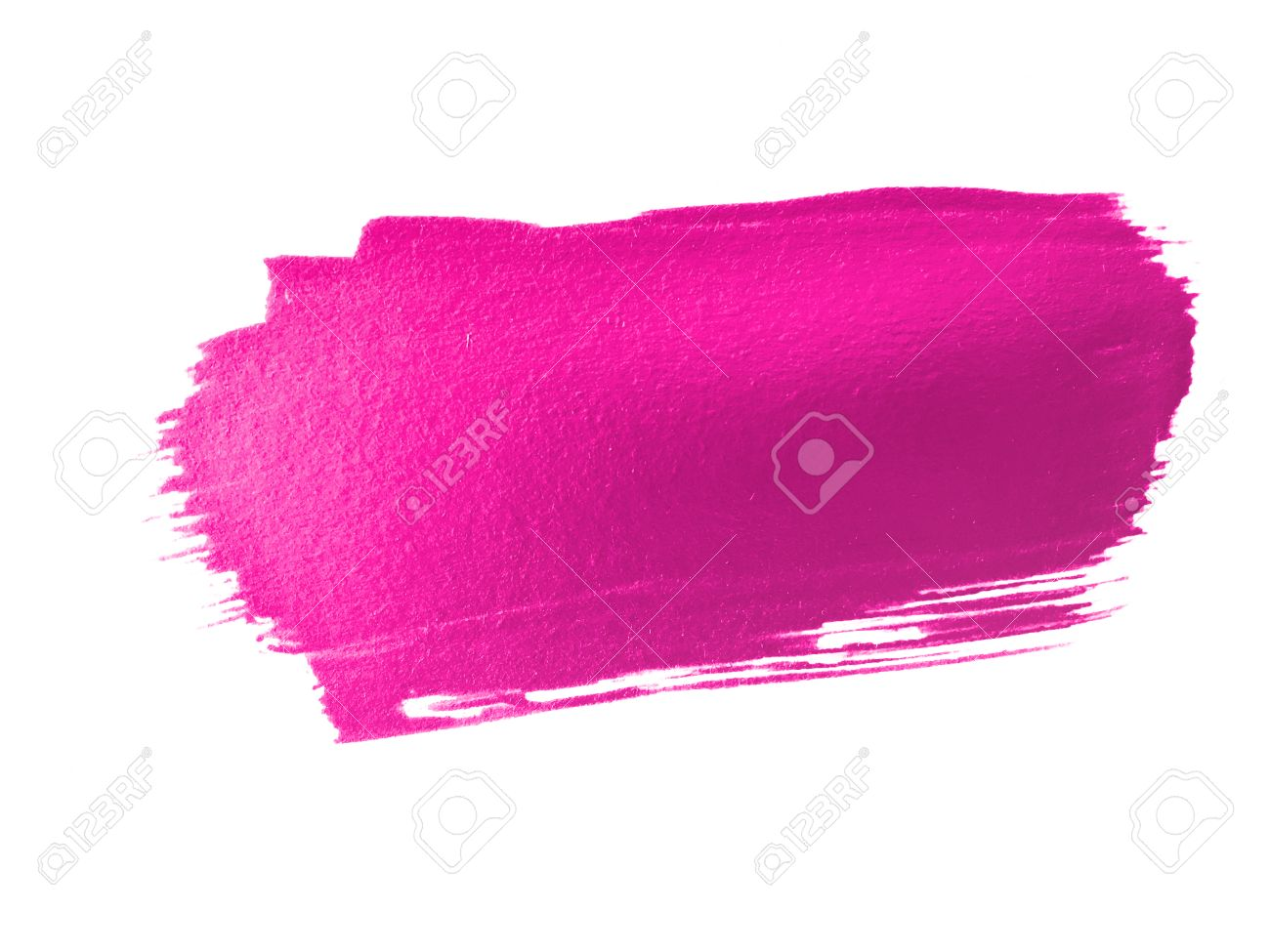 Bright Pink Paint Hot Pink Paint Smear Stroke Stain On White Background Stock Photo