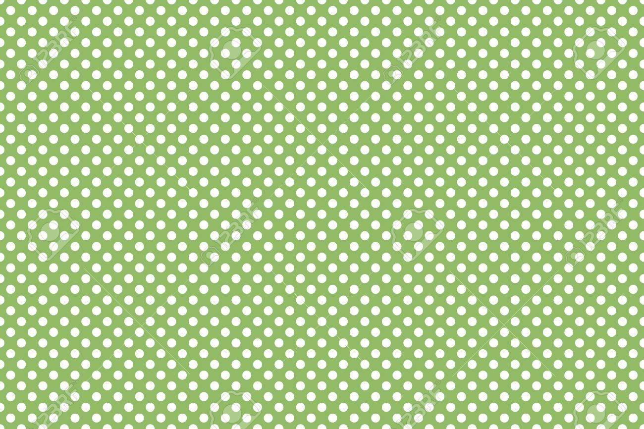 Piccola Sfondo Verde E Bianco A Pois