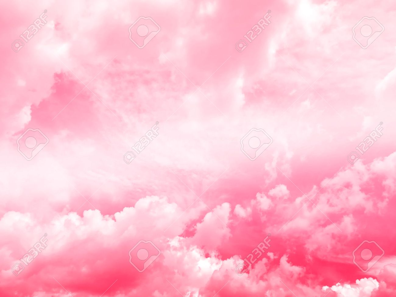 sky and cloud background, pink gradient colors Stock Photo - 60488069