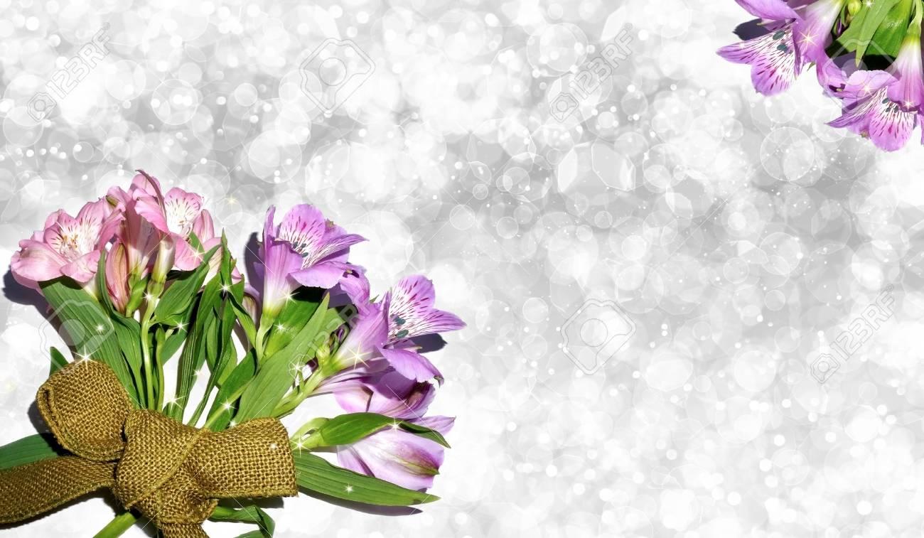 Beautiful pink and purple flowers on bokeh glitter background stock beautiful pink and purple flowers on bokeh glitter background stock photo 61858686 izmirmasajfo