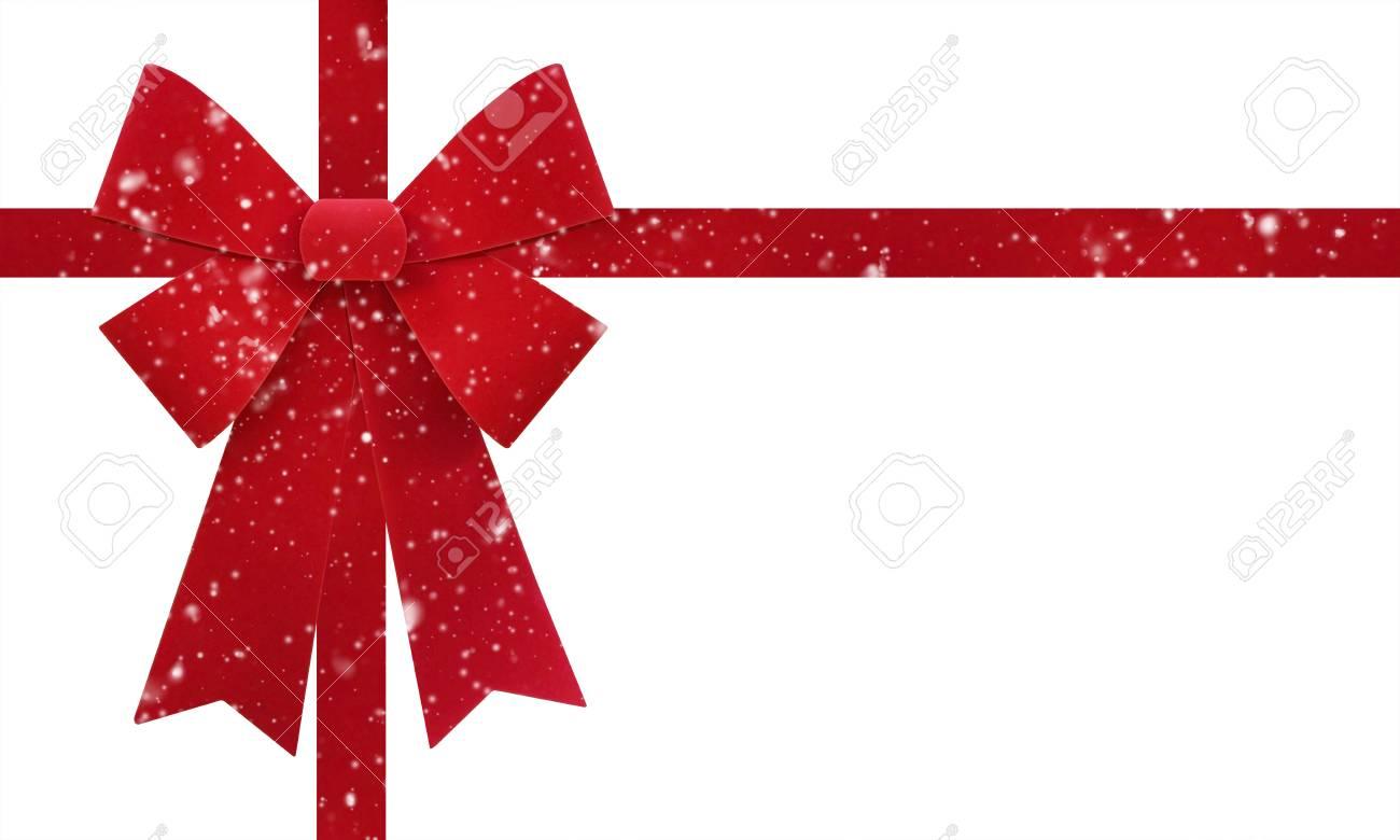 Noeud De Noel Grand Noeud De Noël Rouge Isoler Sur Fond Blanc Avec Effet De