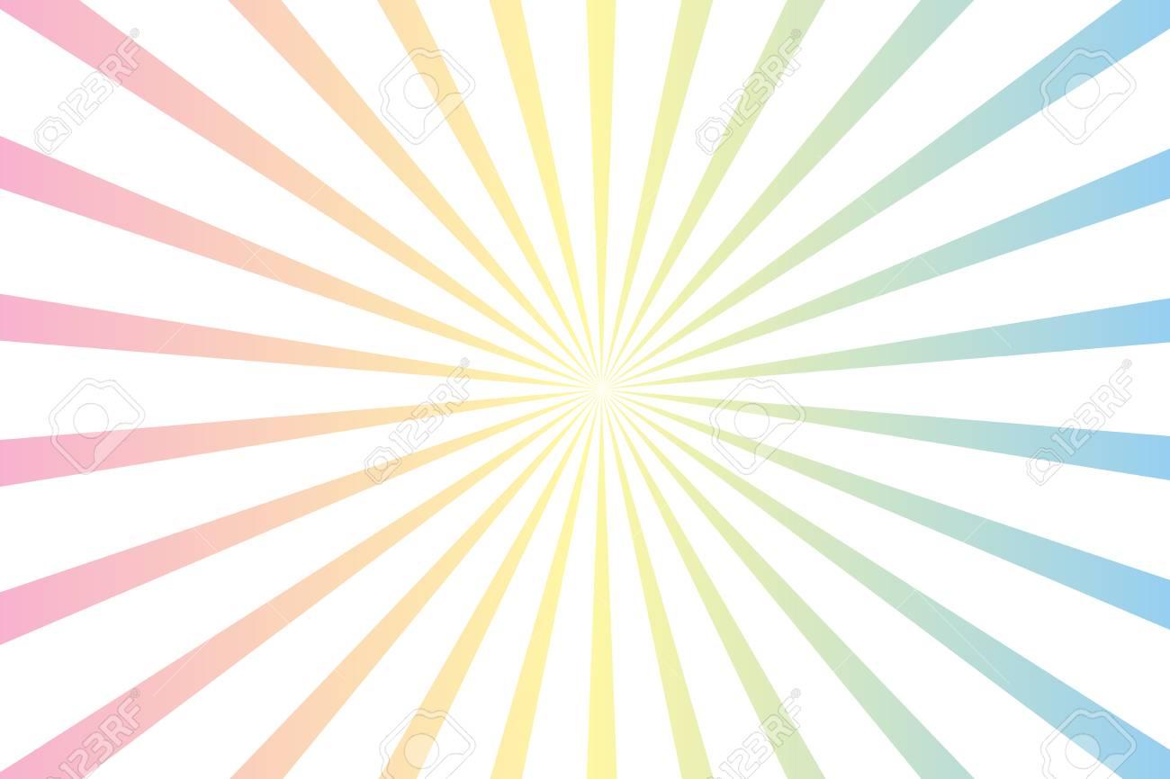 パステル カラーや白放射状スター バースト背景イラストのイラスト素材