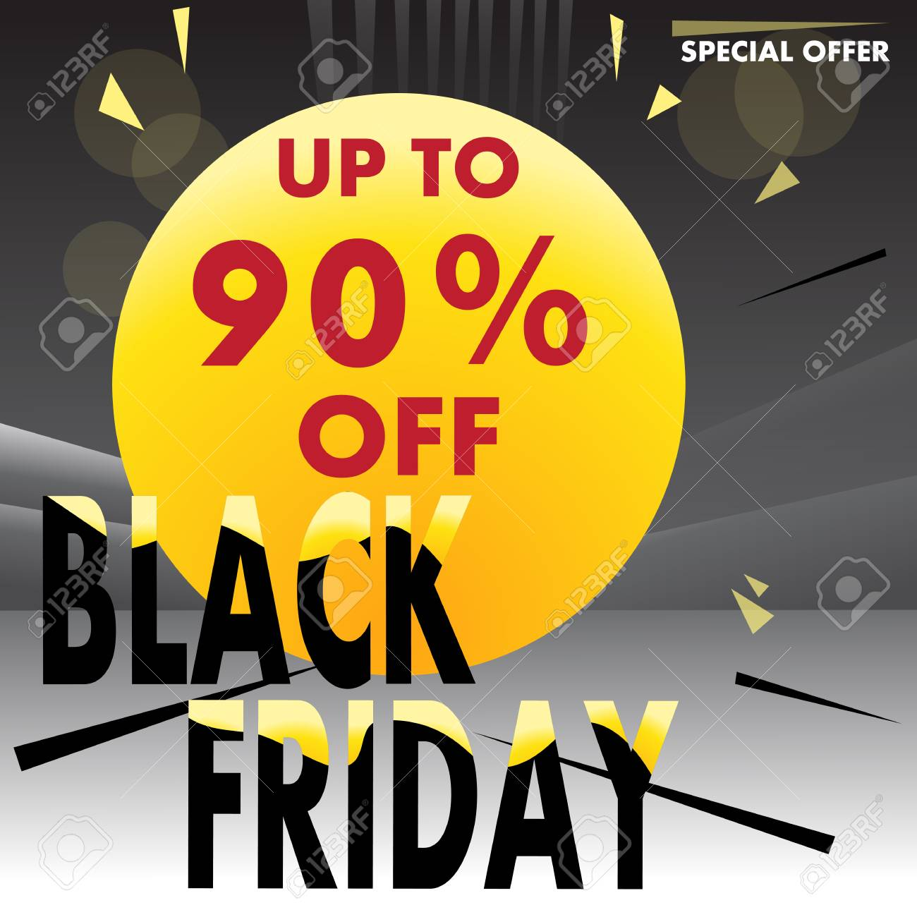 Black Friday Up To 90 Off Vector Creative Template For Shops Royalty Free Cliparts Vectors And Stock Illustration Image 109033698
