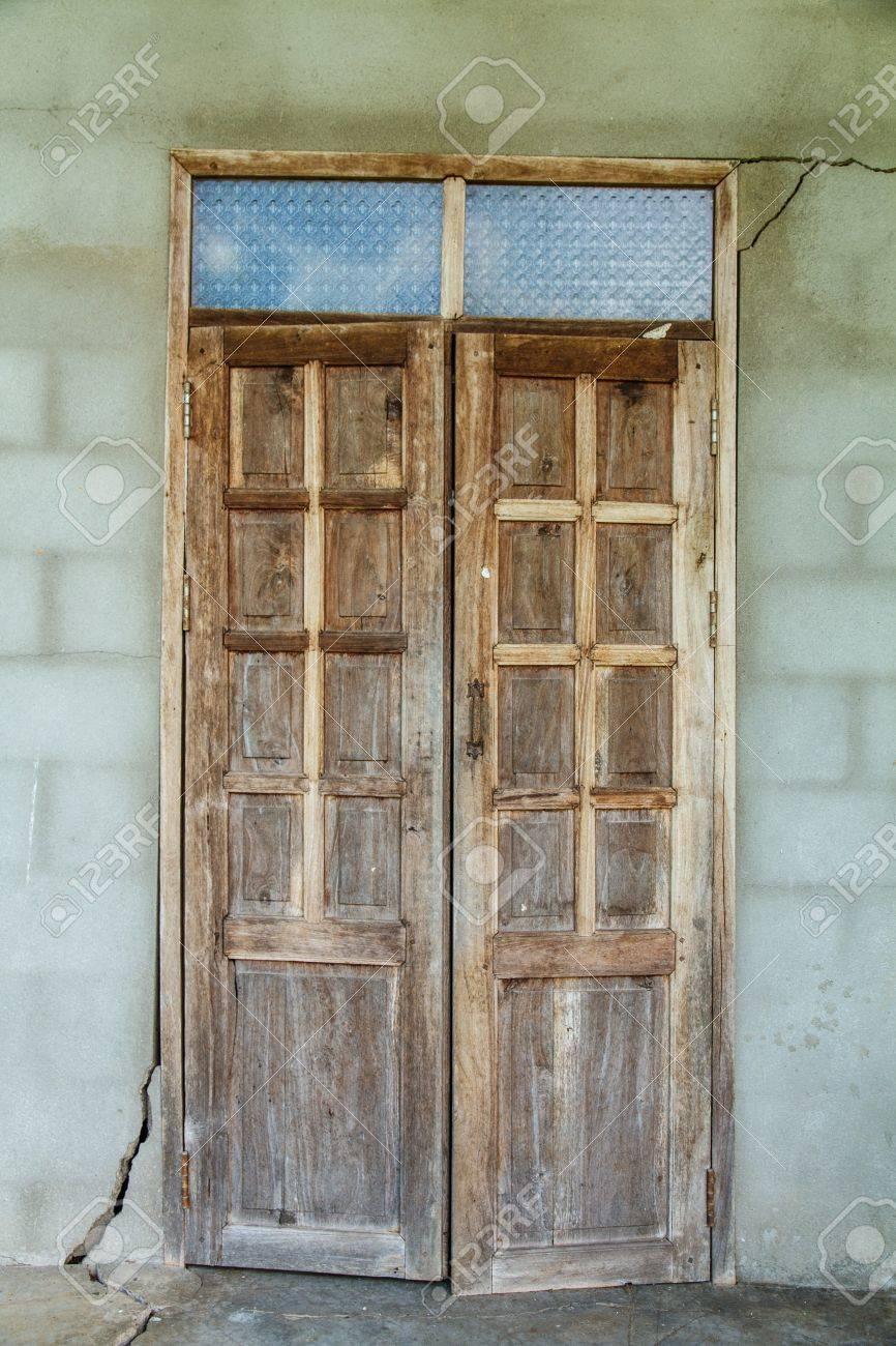 Puertas De Madera Con Cristal Insertos De Vidrio Principal De  ~ Cristales Para Puertas De Madera