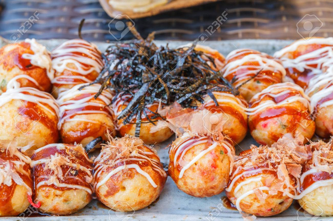 Japan Food Grilled Dough To A Circle Stuffed Squid In Restaurant Stock Photo Picture And Royalty Free Image Image 35249859