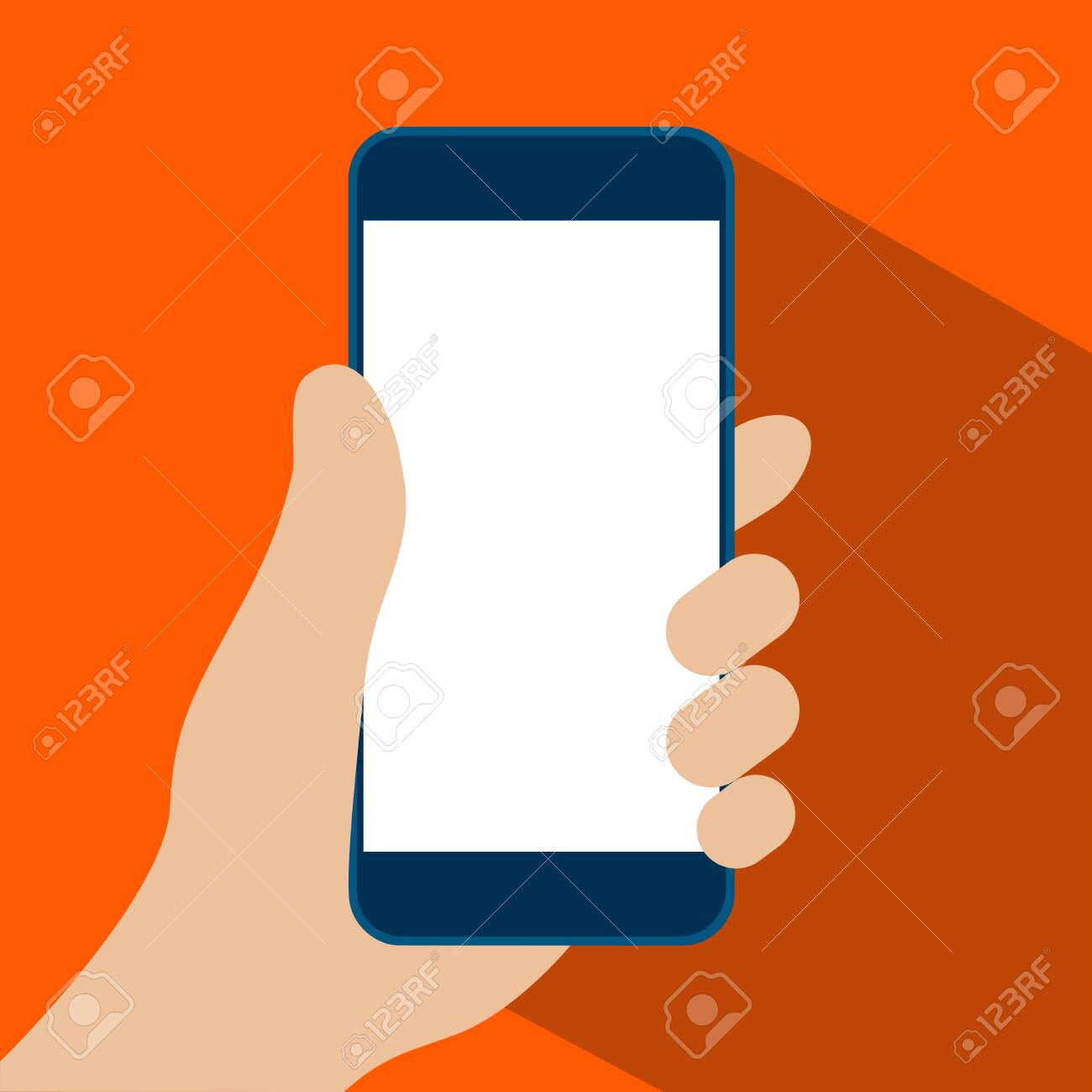 smart phone in hand icon vector illustration. - 150943864